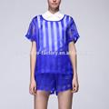 fast fashion ordem pequena frente ruffle blusa de renda blusa de linho