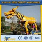 Cetnology Magic Show Lifelike Golden Mechanical Dragon Horse Model