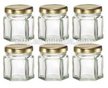 NEW Mini Hexagon Glass Jars for Jam Honey Wedding Favors Shower Favors Baby