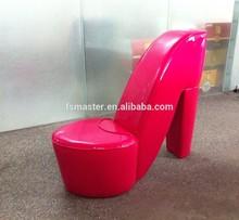 beautiful woman shoe chair high-heeled shoe chair pu shoe sofa chair single sofa