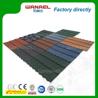 Wanael stone coat steel roof tile/economic roof covering/metal roof dog houses