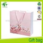 Pink cute holiday gift packing bags makeup paper bag custom