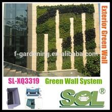 Verticale fioriera modulare a parete verde sistema sl-xq3319 verde modulo a parete fioriere