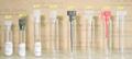 Ce/iso 1ml 5ml 10ml vidro mini amostra de perfume frascos frascos com tampa de plástico