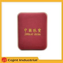 packaging pu leather jewelry boxes high quality brushed gun smoke pu. pendant pu leather box