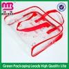 environmental friendly clear plastic pvc zipper purse bag
