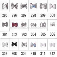 Mix Pink/Green/White/AB Rhinestone Bow Tie 3D Nail Art Decoration Nail Sticker