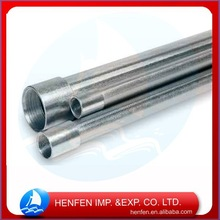Hot Dipped Galvanized Steel longevity electric zinc plating thread conduit pipe parts