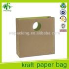ECO brown kraft paper bags die cut handle paper bag