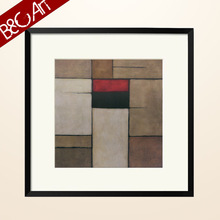 Square oil painting for lobby decoration