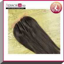2014 Hot sale 6A+ Top 100% Virgin hair cheap 3 part bleached knots full lace closure