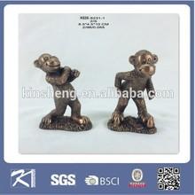 2015 chinese custom made souvenir resin monkey sculpture