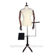 barato medio cuerpo de costura ajustable maniquí de parte superior del cuerpo maniquí de la venta