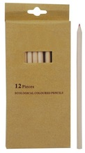 12 colors natural wood pencils 7 inch length