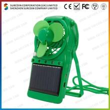 2.4 Inch Solar Fan able solar fan