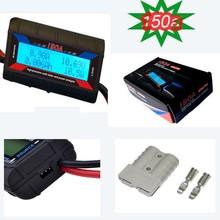 Digital LCD 12V solar watt meter/volt/power/energy/amp-hour/ammeter with Anderson adapter plug
