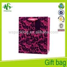 Coated paper promotional paper bag plain murah paperbag apparel