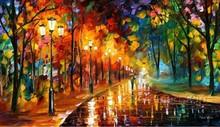 wall art tree leaves oil painting on canvas