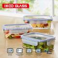 vidrio borosilicato de alta hermético de los contenedores para las verduras