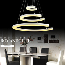 Special hanging three rings led light,led arcylic style chandelier lamp flush mount lights three circles Dia60cm+40cm+18cm