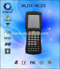 WLD3 Windows CE OS 3.2 inch handheld qr code scanner barcode / Rfid reader