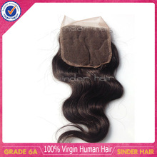 Top quality wholesale factory sale 100% human hair body wave brazilian lace closure free shipping