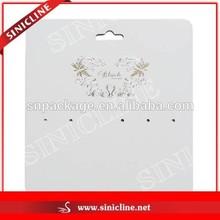 Sinicline Custom Printing Jewelry Hanging Card Earring Display Card