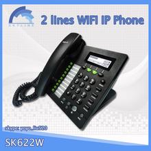 2 líneas sip teléfono gsm de escritorio, voip de teléfono poe habilitado
