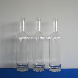 75cl clear glass spirits wholesale rum bottle