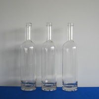 75cl clear glass spirits wholesale rum bottle