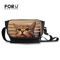 Cat pet printing Single Shoulder Cross Body Sprot Travel Storage Bag For Sale