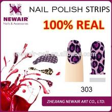 2015 Vivi nail 100% real fashion designs friendly nail polish strips