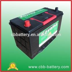 Korea quality 75D31R MF 12V75AH JIS standard Auto batteries car battery