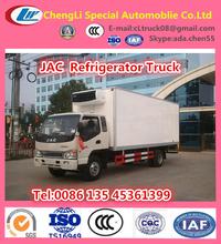 5 TON box refrigerator, JAC cooler truck,refrigerator cooling van for sale