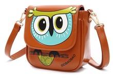 BV2228 candy-colored owl cartoon printed handbag graffiti women shoulder bags best manufacturer