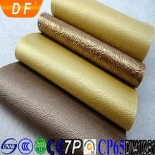 2015 nonwoven backer furniture leather pvc sponge leather synthetic leather for chair / sofa