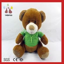 Personalizado assento bonito macio urso de pelúcia barato com a t-shirt