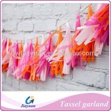 Paper lantern tassels, wedding decoration, tassel garland