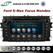 OEM Android 4.4 Car audio System Car Dvd radio with Gps navigation for S-Max Mondeo