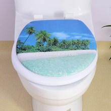 Seascape toilet seat cover,printed toilet seat