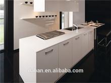 Acrylic white 1-shaped kitchen cabinet images