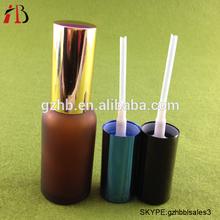 1 oz givré ambre ronde huile essentielle bouteilles en verre avec pompe de pulvérisation gros