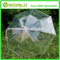 Promotional custom design folding Clear Umbrella