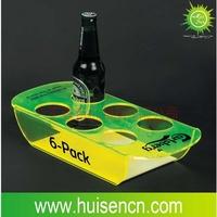professional manufacturer display stand, plastic beer bottle rack