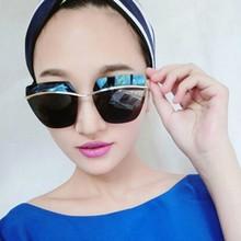 MOQ 1 pair Metal Frame Summer Fashion Women Sunglasses