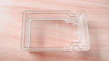 custom injection transparent plastic cover