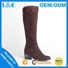 L&C H768-K398 low heel elastic women boot thigh high