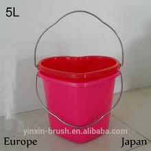 5L chirdren bucket, heart style bucket,sand beach bucket