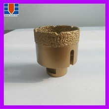 Diamond core drill bits for drilling concrete stones or ceramics