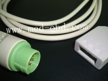 Fukuda Denshi ECG trunk cable,3 leads,AHA